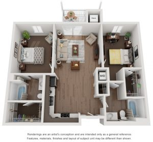 Cypress 2 Bed