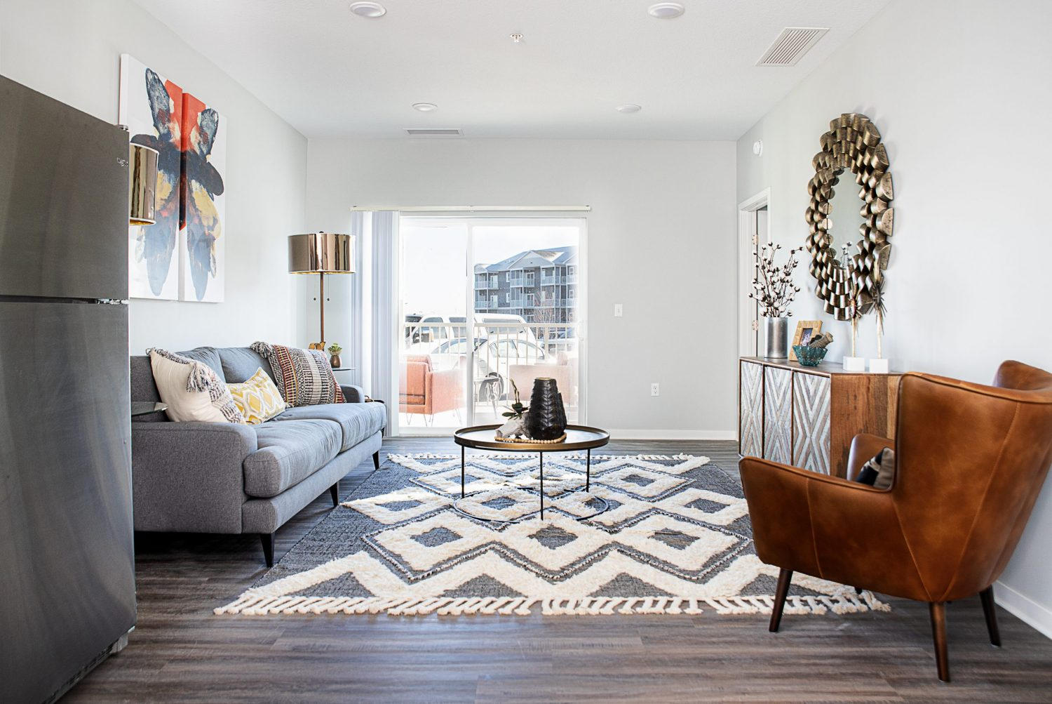 living room with furniture